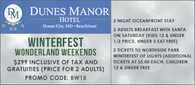 Dunes Manor Hotel Promo Code: Winterfest Wonderland Tickets