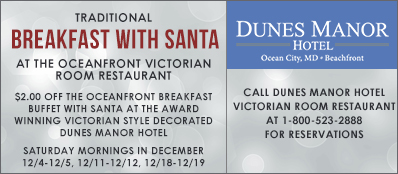 Dunes Manor Hotel Coupon: $2 Off Breakfast With Santa