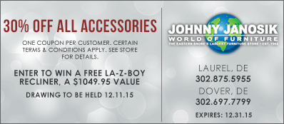 Johnny Janosik Coupon: 30% Off All Accessories