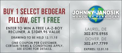 Johnny Janosik Coupon: Buy 1 Select Bedgear Pillow, Get 1 Free
