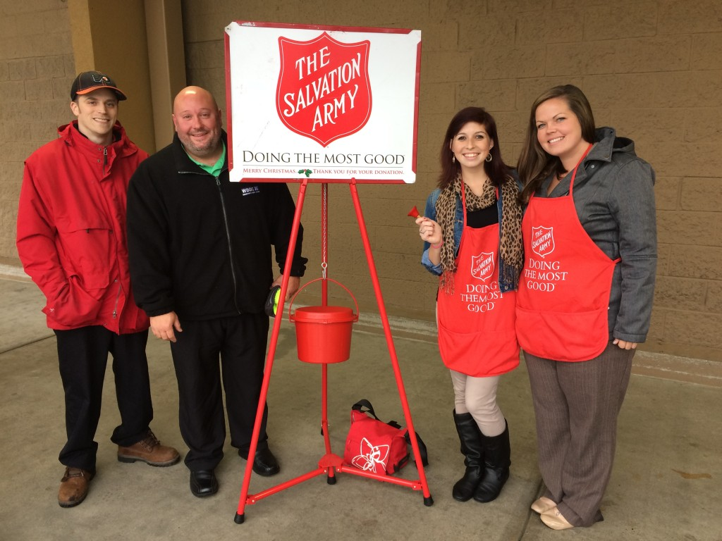 Bell Ringing for the Salvation Army on #GivingTuesday