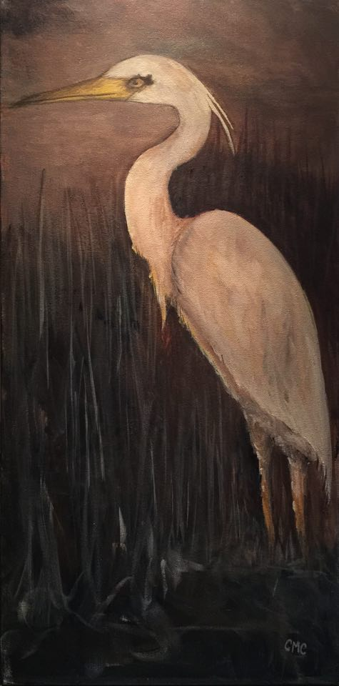 White Heron by Crystal Collins