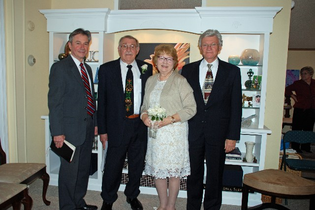 Ministers who made it all legal, Rev. George Patterson, and Rev.  Bill Spencer from Smithfield, NC, brother of the bride.