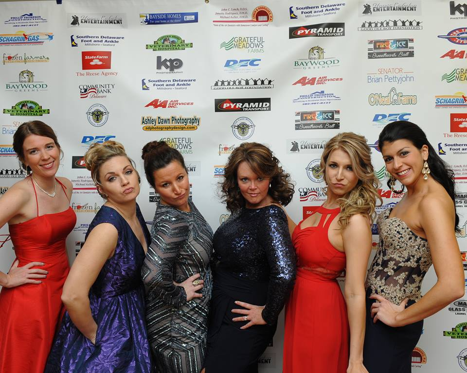 The girls dolled up at the 2016 Sweethearts Ball (Photo: Ashley Holloway).