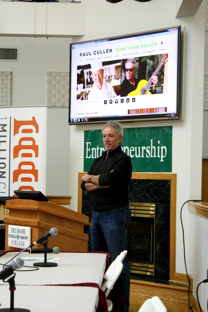 Paul Cullen during Entrepreneurship Week at Del. Tech Owens Campus.