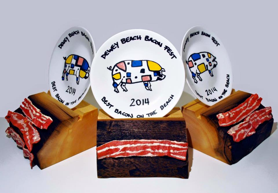 2014 trophies at Dewey Beach Bacon Fest (Photo Courtesy: Dewey Beach Bacon Fest Facebook page)