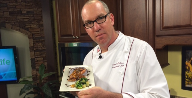 Thai Crusted Salmon with Roasted Shallot-Mandarin Marmalade with Pete McMahon of the Rusty Rudder