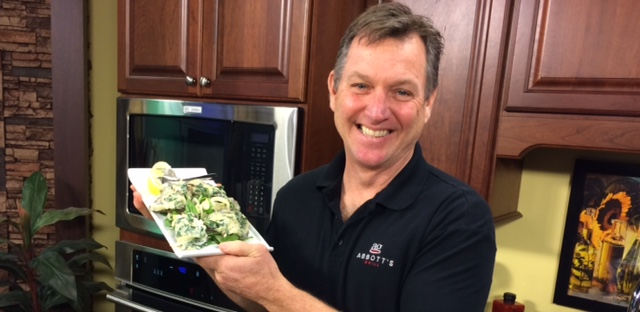 Baked Oysters with Spinach, Mushrooms and Asiago Cheese with Chef Kevin Reading from Abbott's Grill