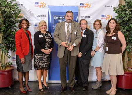 Somerset County Public Schools Employees receive the Flame of Excellence Award. (Photo: United Way).