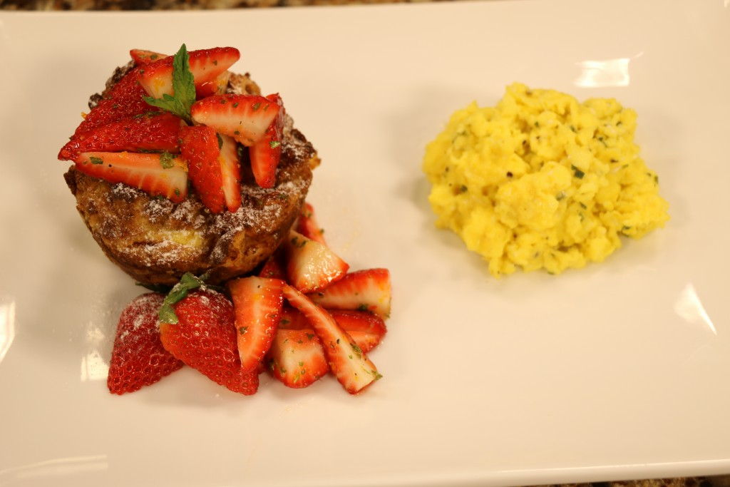 Pan Perdu and Strawberry Salad with Chef Steve Konopelski from Turnbridge Point Bed & Breakfast