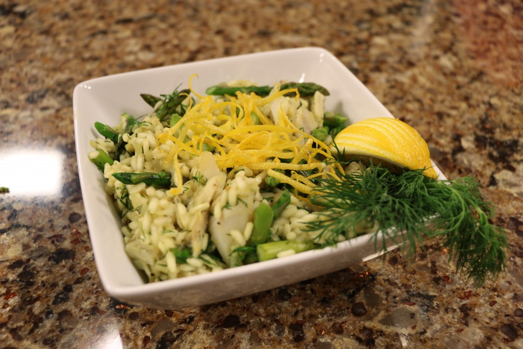 Crab and Asparagus Risotto with Chef Thomas O'Neill from Suicide Bridge Restaurant