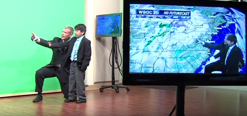 Future Weatherman, Axel Beck, Meets His Idol, WBOC Meteorologist Brian Keane