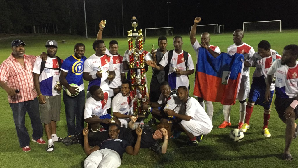 There are even Haitian soccer leagues in Salisbury and other parts of Delmarva. (Photo: Habacuc Petion)