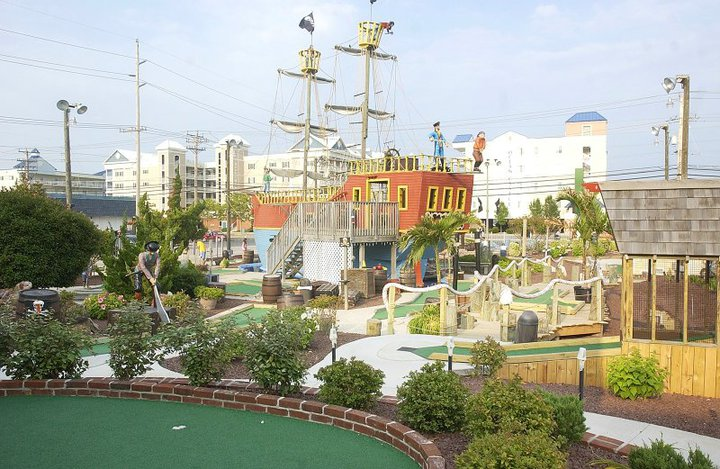 Pirate Ship and Safari Village (indoor course) at Old Pro Golf's 136th Street location in Ocean City, Md.
