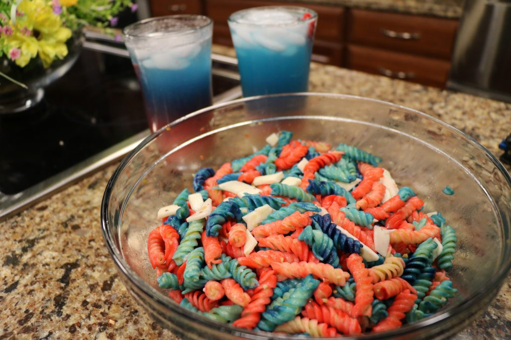Red, White and Blue Pasta Salad and Patriotic Punch with DelmarvaLife's Brittany Siegel