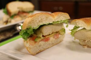 California Chicken Sandwich made in the DelmarvaLife kitchen with guest, kitchen manager Hannah Phillips from The Deli