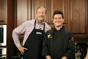 Chef Jason Myers with Roadie Joe's Bar and Grill in Salisbury with Jimmy in the DelmarvaLife kitchen