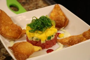 Ahi Tuna Stack with sushi grade tuna
