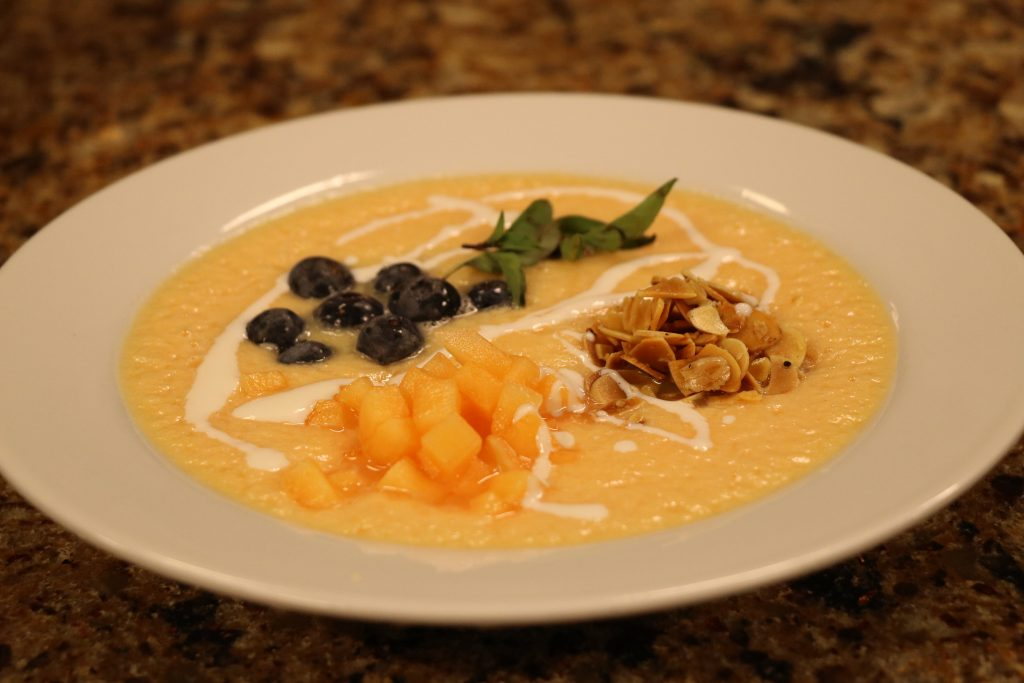 In the Kitchen with Ryan Cunningham from Abbott's Grill Making Chilled Cantaloupe Soup