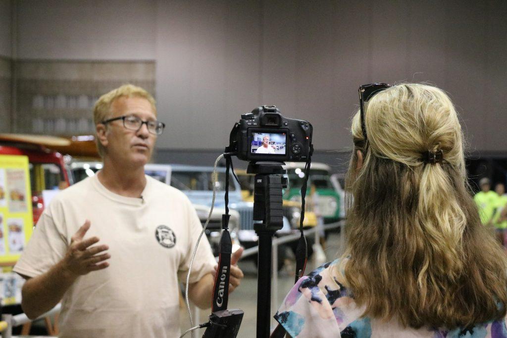 WBOC interviews Brad Hoffman about Jeep Week (Photo:Laura Landry/WBOC)