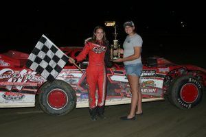 S.R. Pete & Sons Super Late Model Amanda Whaley Winner