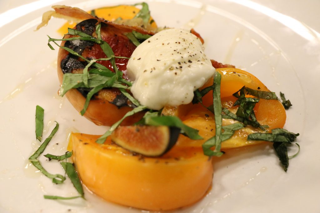 In the Kitchen with Chef Sean Corea of Fork and Flask Making Grilled Peach and Burrata