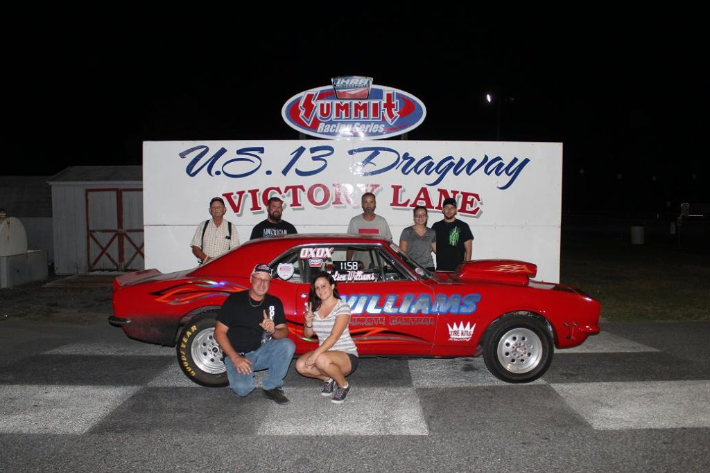 Drag Racing: Williams Gets First Mod Win: U.S. 13 Dragway
