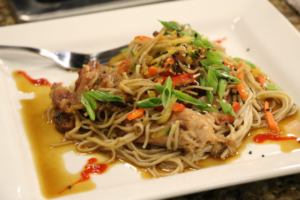 Asian Pork Soba Noodle Salad with Bethany Blues