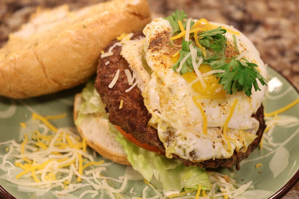Maryland Crab Dip Burger and Vegan Burger Recipe to Celebrate National Cheeseburger Day