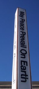 The Rehoboth Peace Pole. (Photo: Delaware Peace Week)