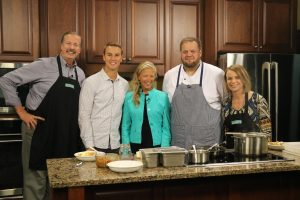 Brenton Wallace from Crust and Craft and Co-Chair of Celebrity Chef's Beach Brunch, Nicole Bailey, tell us about an upcoming event while making a fantastic pasta dish