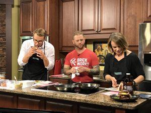 tasting & making the pork schnitzel