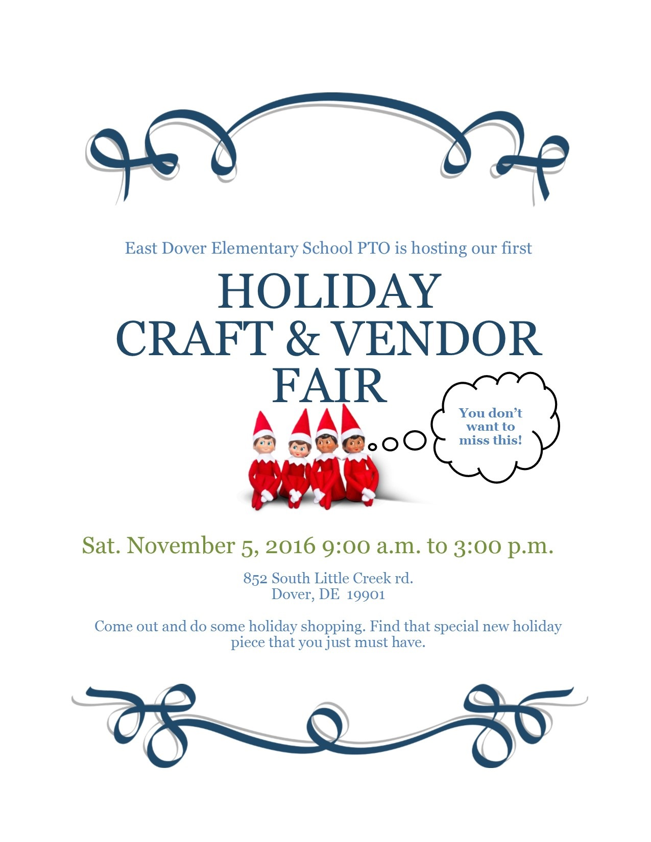 Holiday craft and vendor fair at east dover elementary for Christmas classic art craft festival