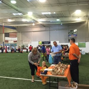 Vendors were set up indoors handing out candy and offering games to children throughout the event (Photo: WBOC)