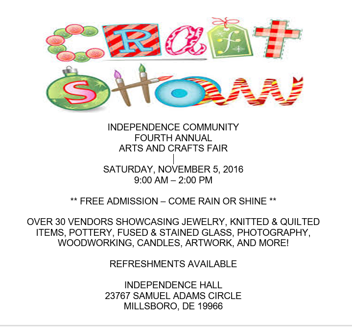Independence community fourth annual arts craft fair for Christmas classic art craft festival