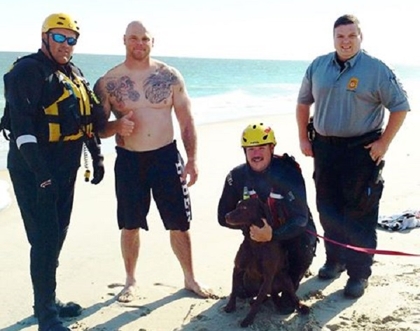 Dog Rescued After Swimming in Ocean off Delaware Coast