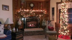 Robert Riggins' fireplace in American Corner, Maryland.