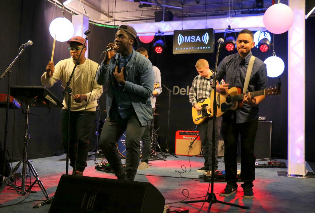 "breakfast. Performs Two Originals on the Mid South Audio Stage, ""got your back"" and ""wake up call"""