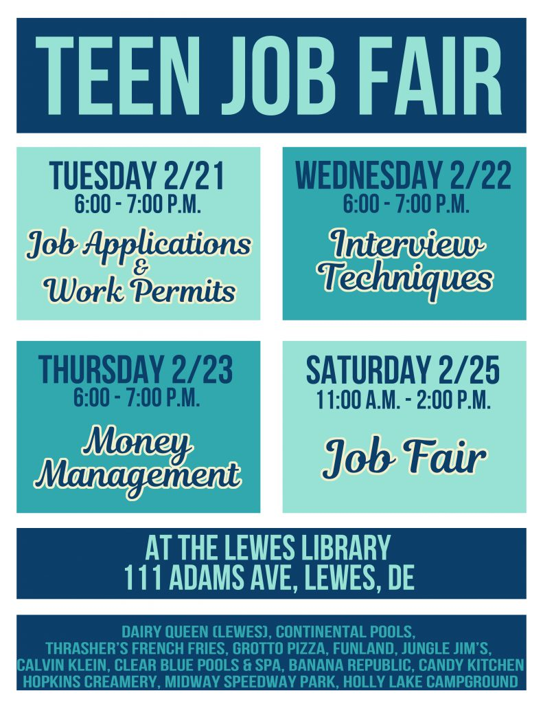 nd annual teen job fair delmarvalife