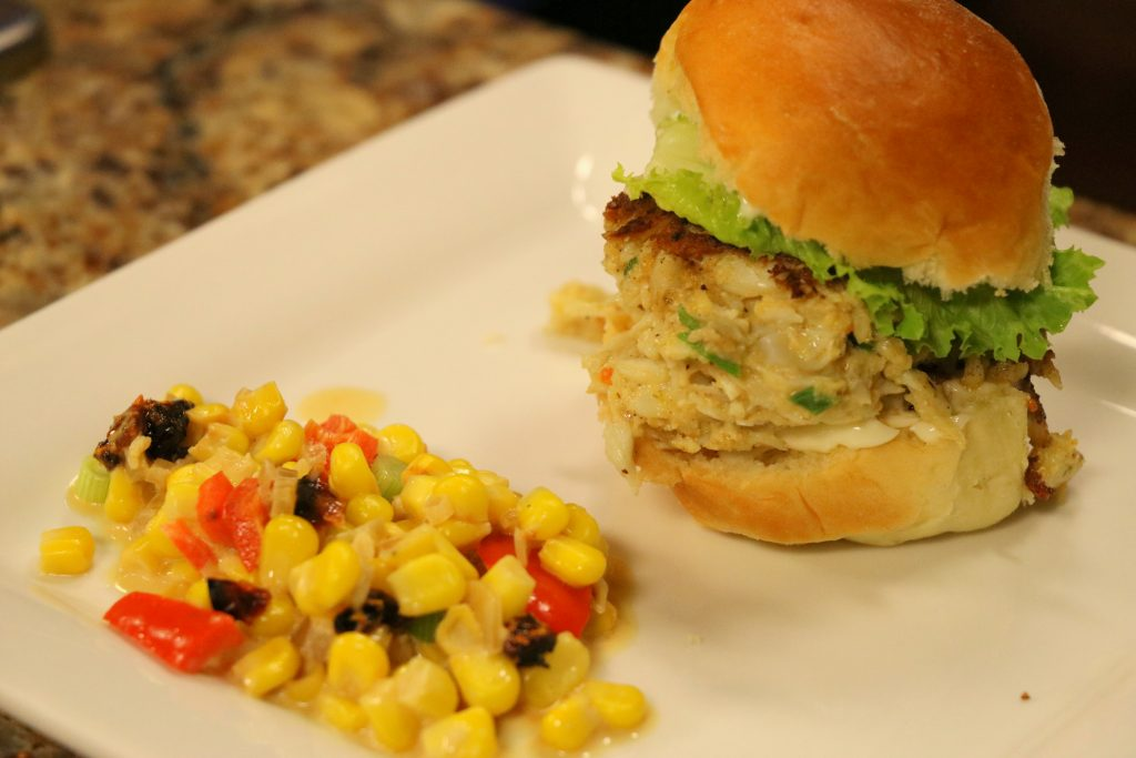 """Crabcake Sliders and Maque Choux with Author of """"A Culinary History of Southern Delaware,"""" Denise Clemons"""