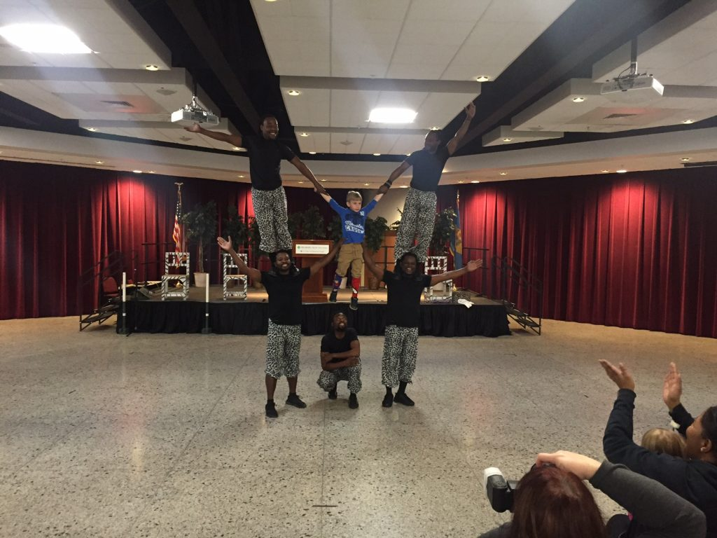 Zuzu Acrobats Perform at Delaware Technical Community College, Terry Campus