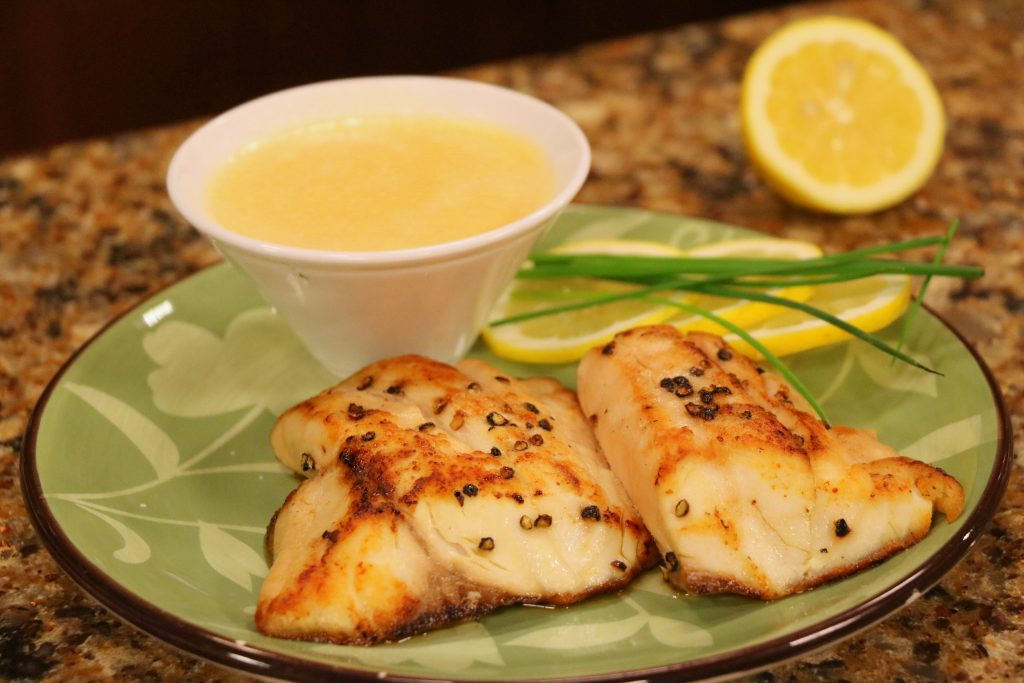 Pan Seared Rockfish with Lemon Beurre Blanc with Suicide Bridge Restaurant