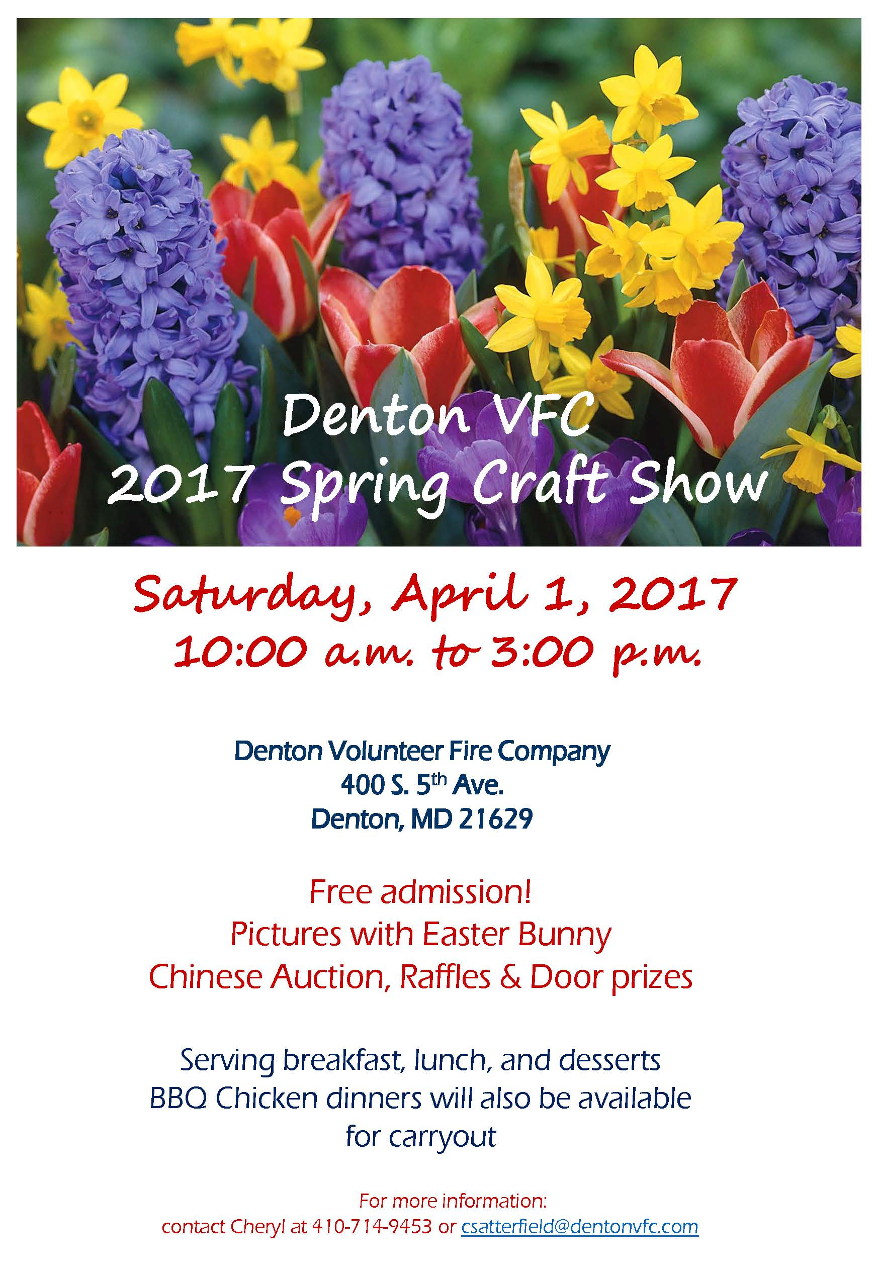Denton volunteer fire spring craft show delmarvalife for Vendors wanted for craft shows 2017