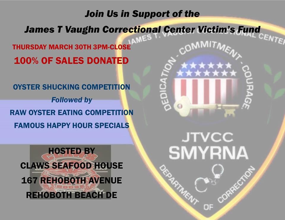 Rehoboth Beach Restaurant Holding Smyrna Prison Victims' Fund Benefit