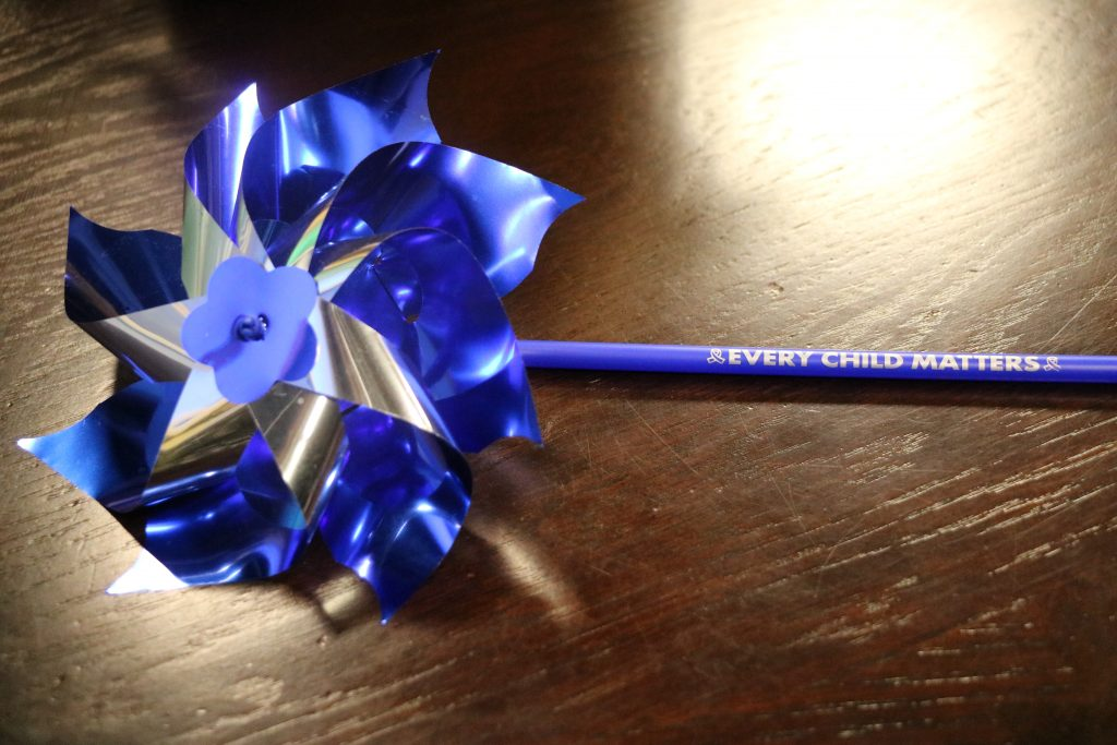Pinwheels for Protection Campaign, Raising Funds for the Life Crisis Center to Assist Victims of Child Abuse