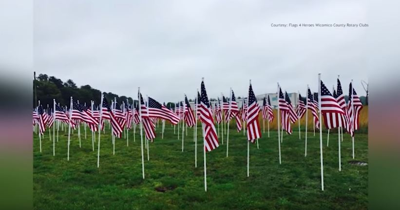 Rotary Club of Salisbury, 'Flags for Heroes' in Wicomico County