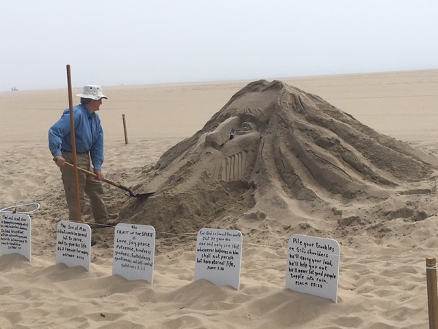 DELMARVA'S HEART AND SOUL: Worcester County Artist Creates Giant, Religious, Sand Sculptures