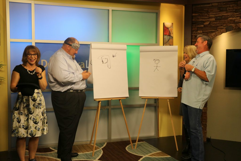 "Playing ""Picture This"" Game with Studio Audience Members"