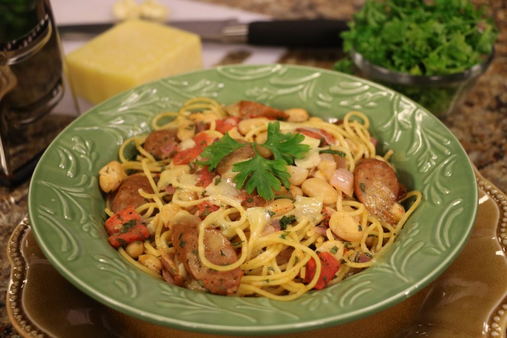 'Willa's Food Pantry' in Harrington and Tuscan White Bean Pasta Recipe