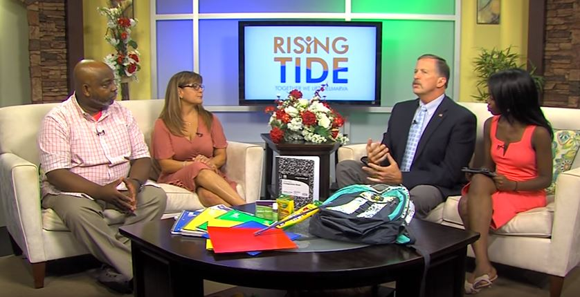 Rising Tide Event on August 9, Collecting School Supplies to Help Local Children on Delmarva